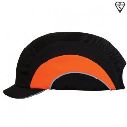 Black/Hi-Vis Orange Micropeak Bumpcap