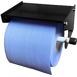 Blue Roll Holder with Shelf