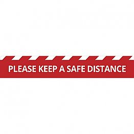 Keep Safe Distance Floor Sticker 600x100mm