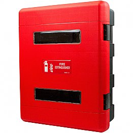 Wall Mounted Double Fire Extinguisher Cabinet